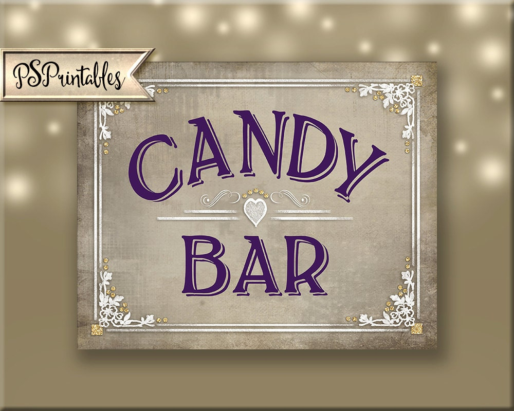 Sensational Candy Buffet Sign Candy Bar Sign Printable Wedding Interior Design Ideas Gentotryabchikinfo