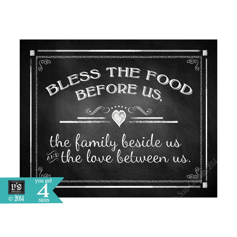 Bless The Food Before Us-Blessing Thanksgiving Or Wedding