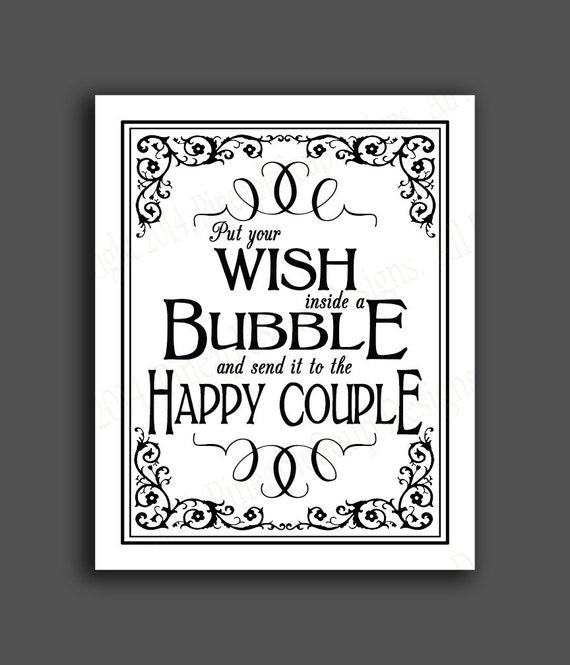 printable bubble send off diy wedding sign immediately etsy
