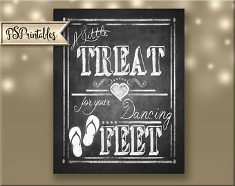 Printable Flip Flop Wedding favors sign, flip flop favors, beach wedding, favors sign, treat for feet, chalkboard print, chalkboard wedding
