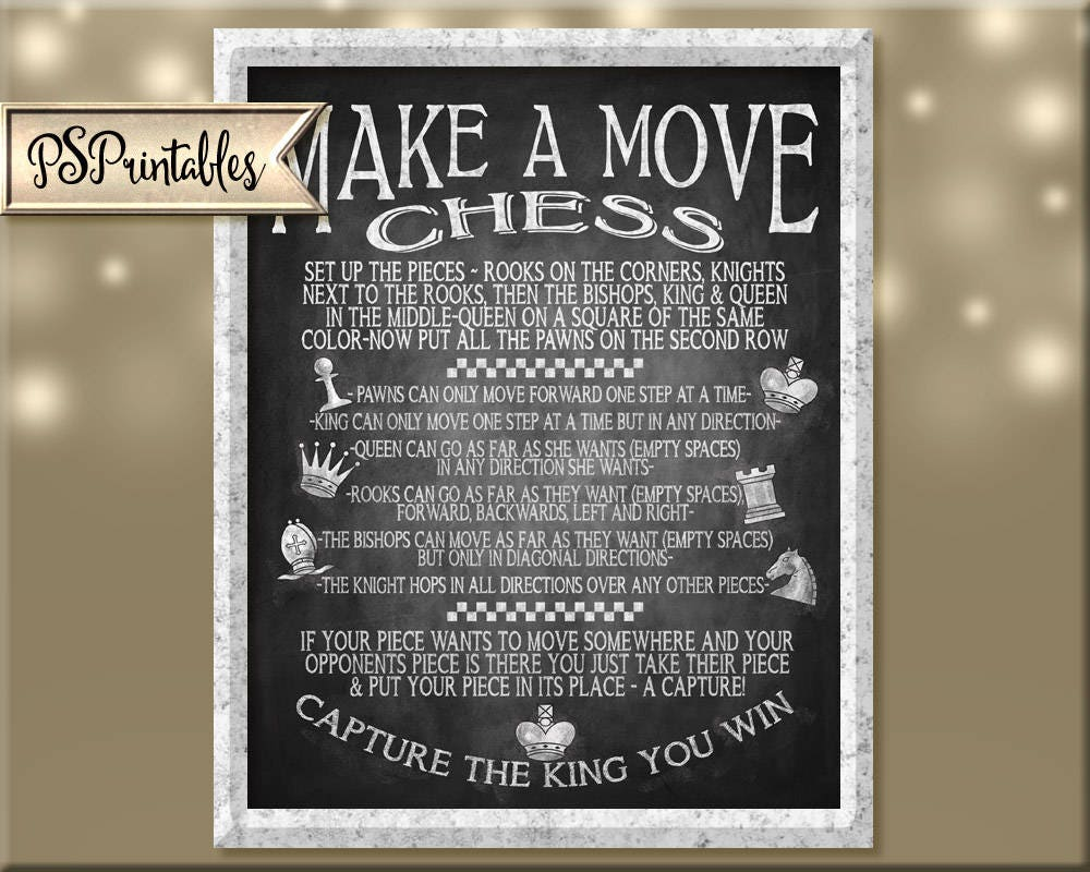 photograph regarding Printable Chess Rules identify backyard garden game titles - chess activity indication - chess wedding day activity - chess