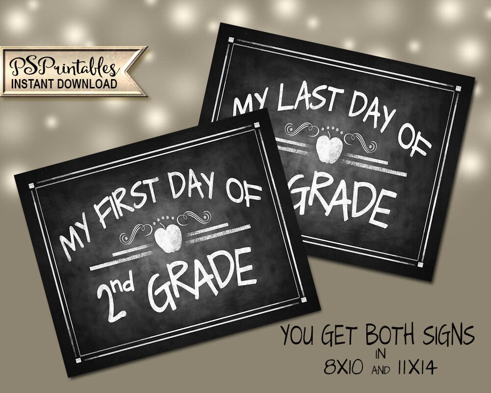 picture relating to First Day of 2nd Grade Printable Sign titled 2nd Quality Photograph Prop Symptoms PRINTABLE Signs and symptoms, 2nd Quality