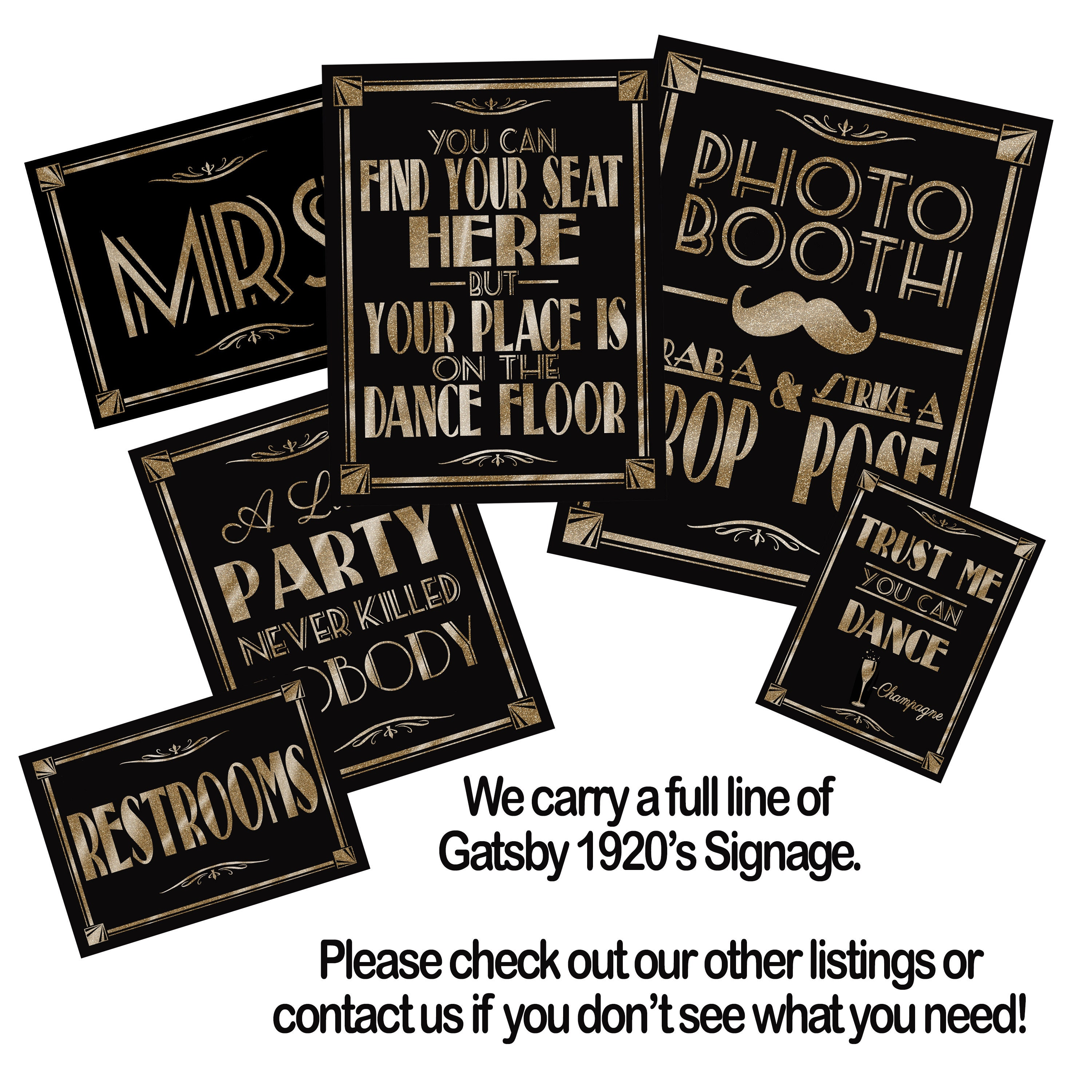 Black Gold Birthday Decorations Customized 40th Sign Gallery Photo