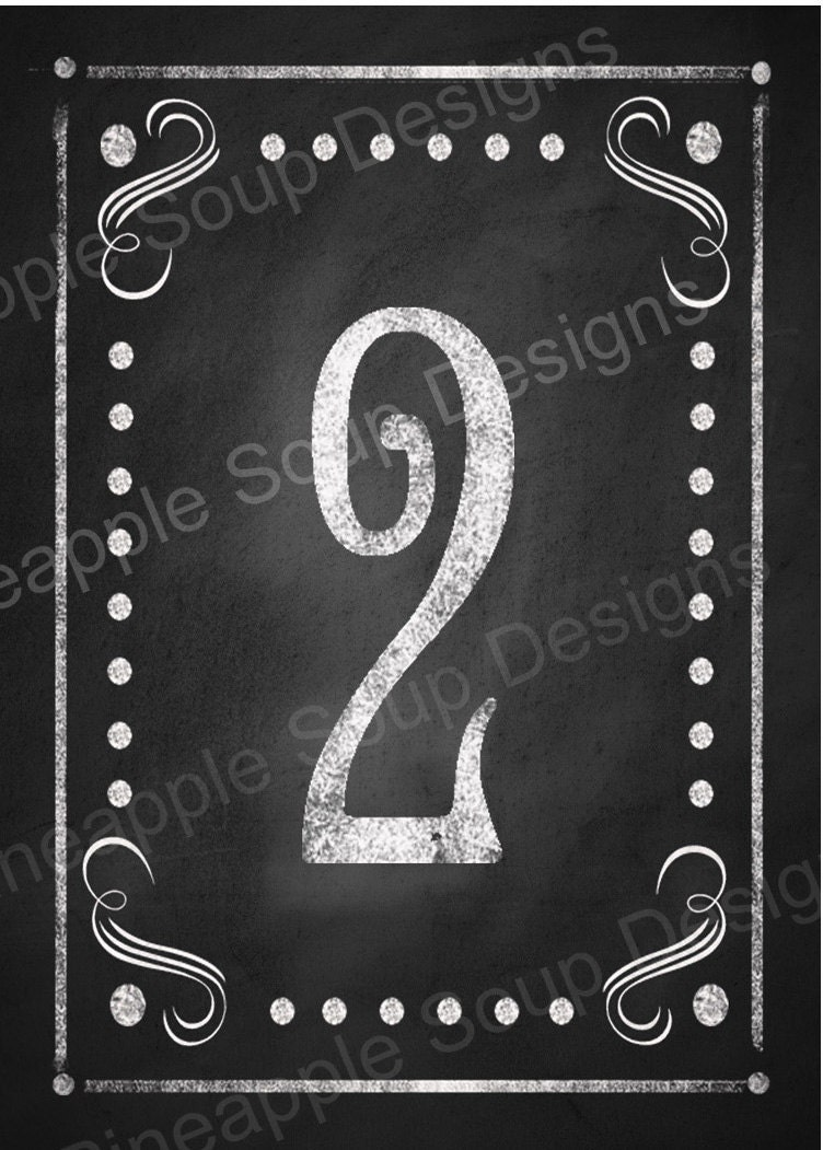 diy printable table numbers for your rustic wedding 1 10