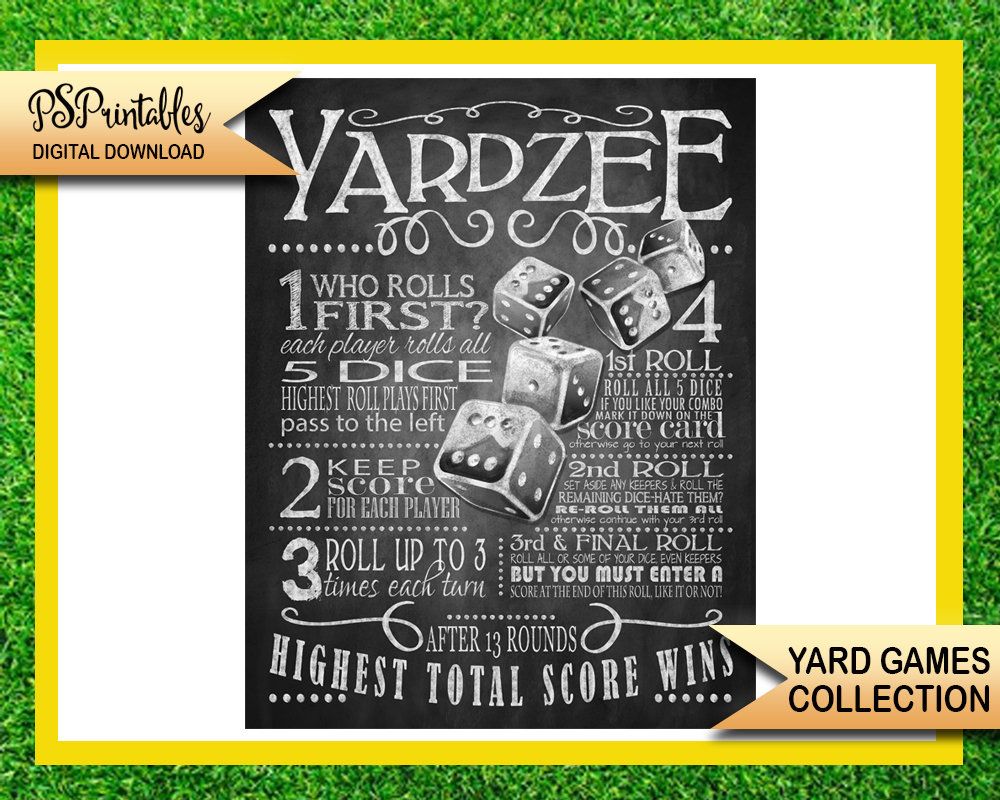 image relating to Yardzee Rules Printable called backyard garden online games - yardzee backyard garden recreation indicator - bbq backyard game titles