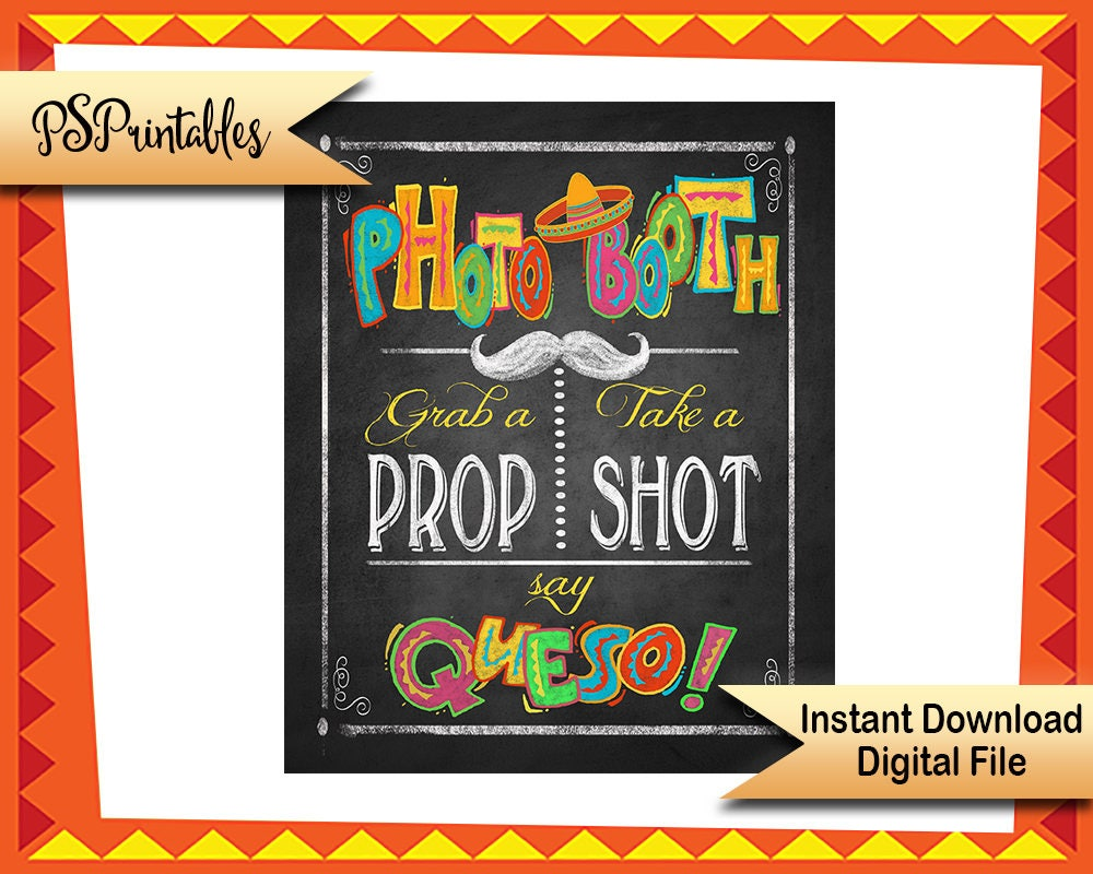 photograph relating to Cinco De Mayo Printable Decorations known as Fiesta Image Booth Printable Indication, Cinco de Mayo