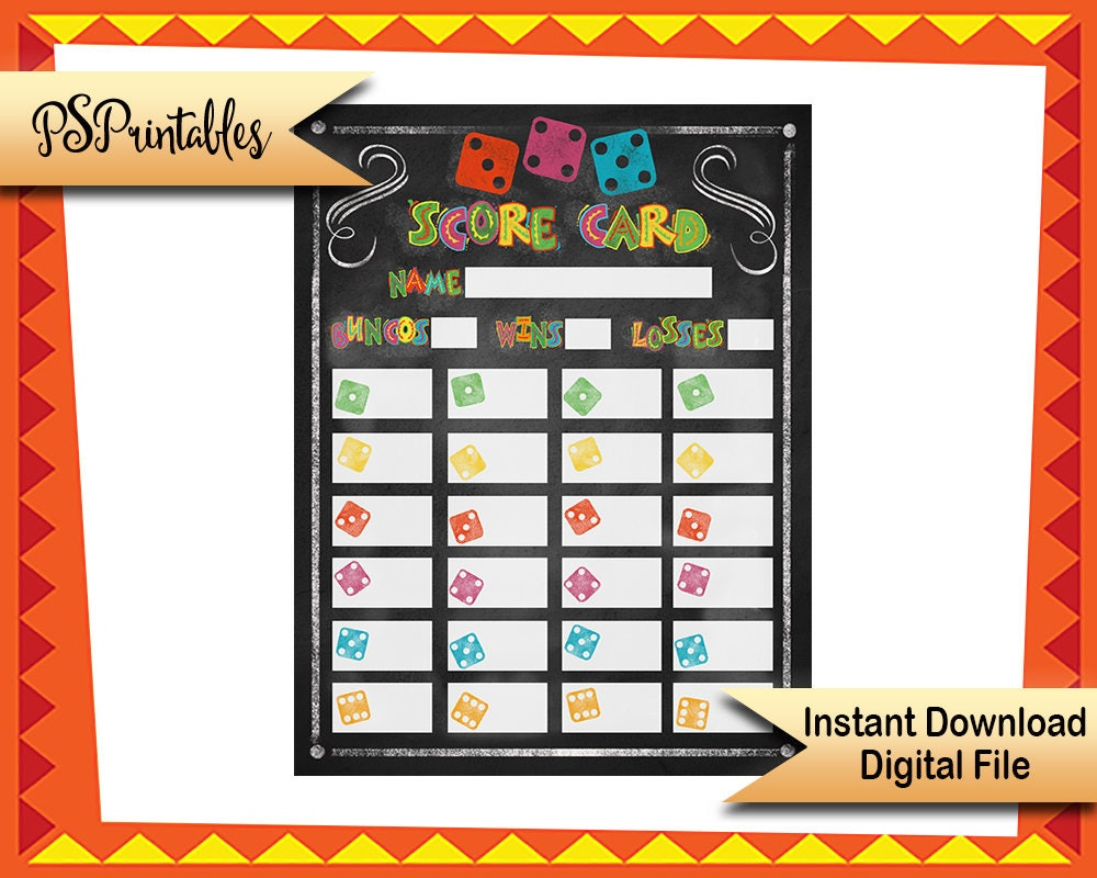 graphic relating to Printable Bunco Score Cards called Printable Bunco Ranking Sheets, Fiesta bunko recreation rating