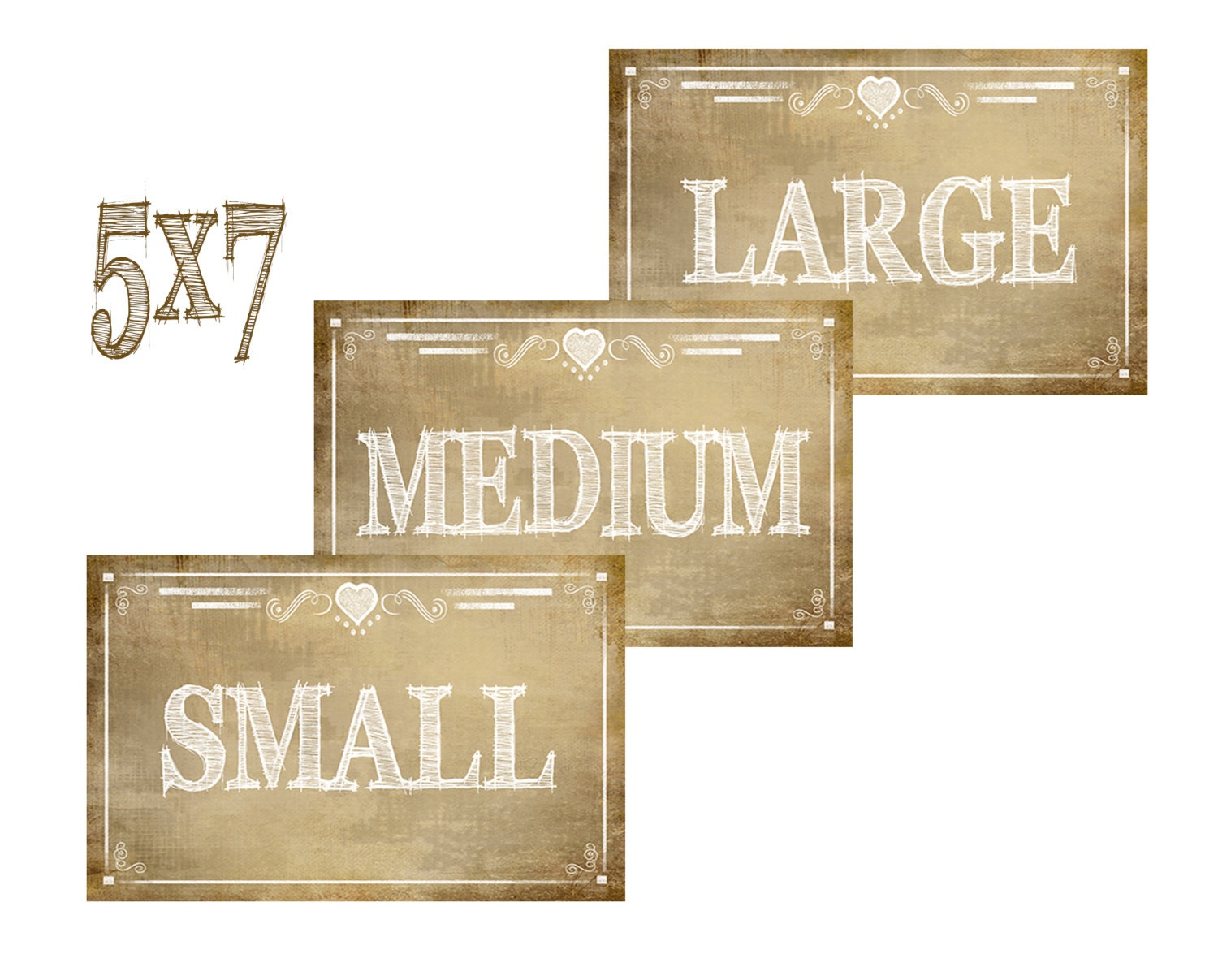 Printable Small Medium and Large Signs Vintage style Rustic | Etsy