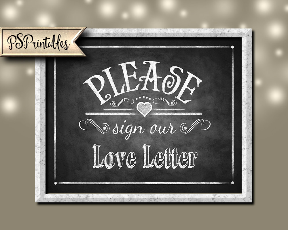 graphic about Printable Chalkboard Signs identify Printable Wedding ceremony Chalkboard signal - remember to indication our Take pleasure in