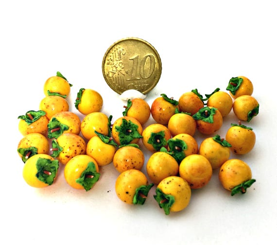 10 pieces Dollhouse miniature 1:12 persimmon