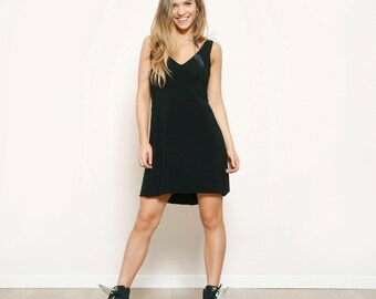 Woman Black dress , Party Evening Bridesmait Dress , Little Black dress , Prom Black dress , Short black dress