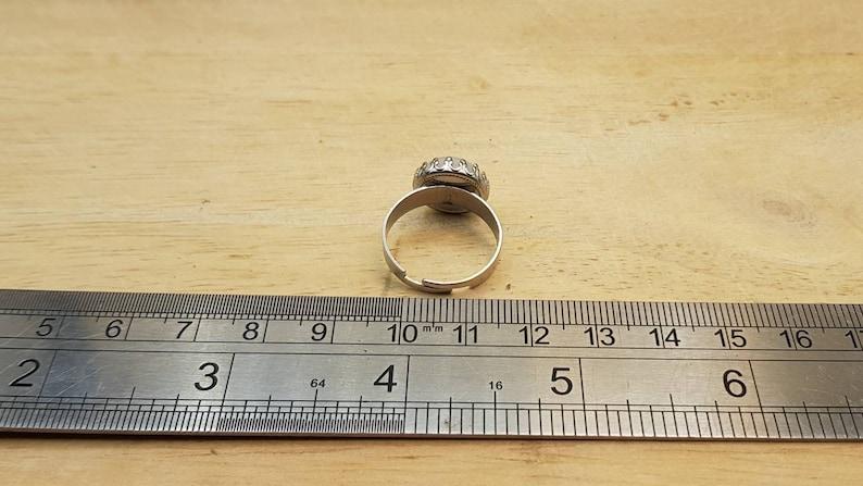 Women/'s White ring June Birthstone Stainless steel Hypoallergenic Rainbow moonstone adjustable Ring Reiki jewelry uk 12mm gemstone
