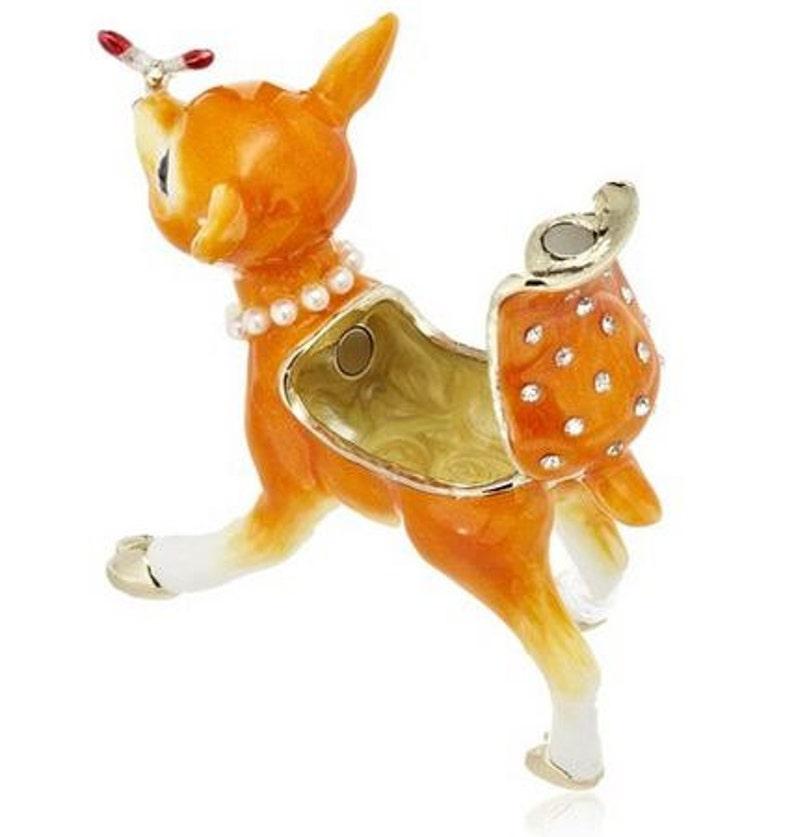 Cute Mini Bambi Jewelry Box,jewelry case,present,ring case,With a beautiful gift box