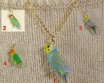 Budgie bird Pendant & Necklace - parakeet - budgerigar -