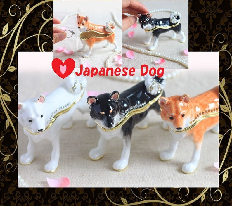 Lovely Cute Japanese dog Jewelry Box,Dog jewelry case,animal gift  box,necklace box,Earring case,Accessory case,With a gift box