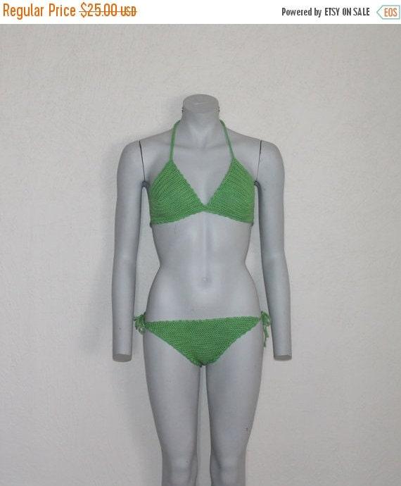 Crochet Bikini Vintage Bikini Crochet Swimsuit Cro