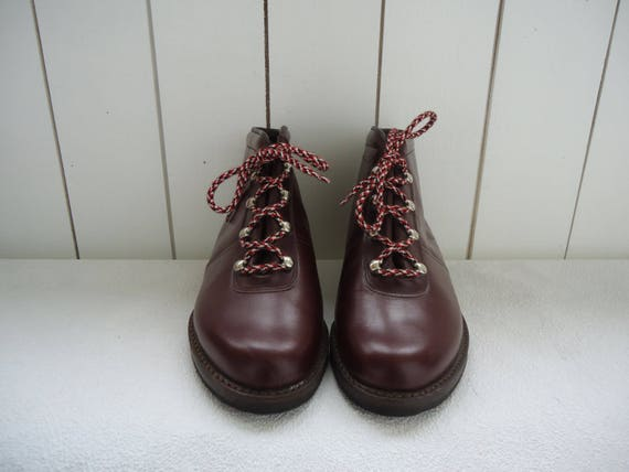 Lace Up Burgundy Boots Leather Ankle Cordovan Vintage Pixie w4q1Fag