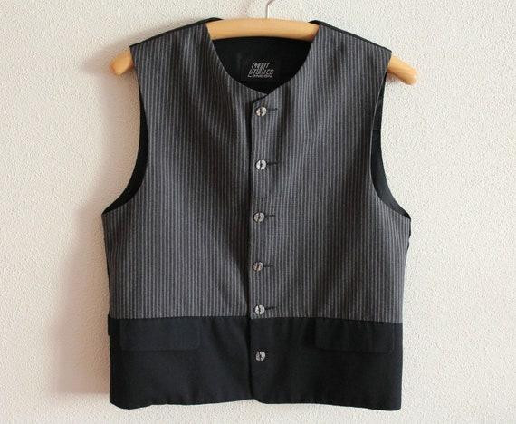 Men/'s Vest Black Vest Black Gentlemen/'s Waistcoat Cotton Vest Formal Fitted  Edwardian Victorian Renaissance Steampunk Baroque