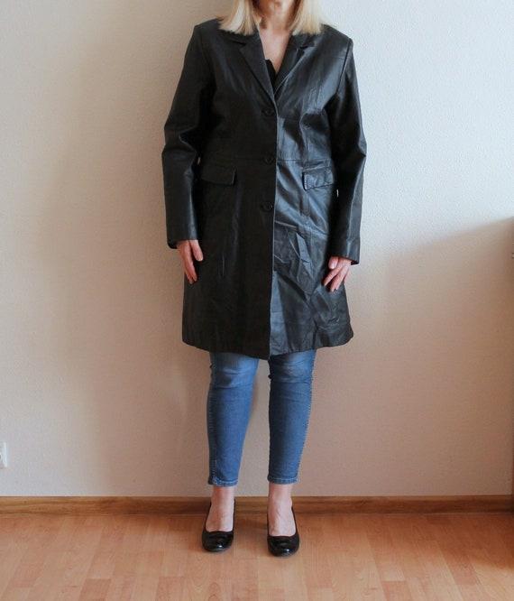 Leather Coat Women's Leather Coat Black Leather Co