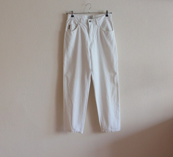 White ARMANI Pants Women Men Pants White Cotton Pa