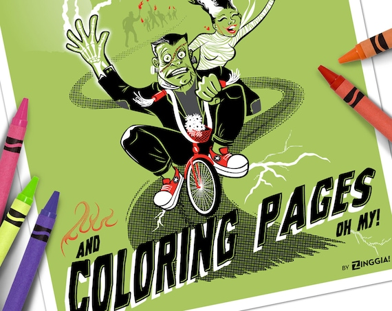 24 Monster Färbung Buchseiten mit Spiele & Monster Masken   Etsy