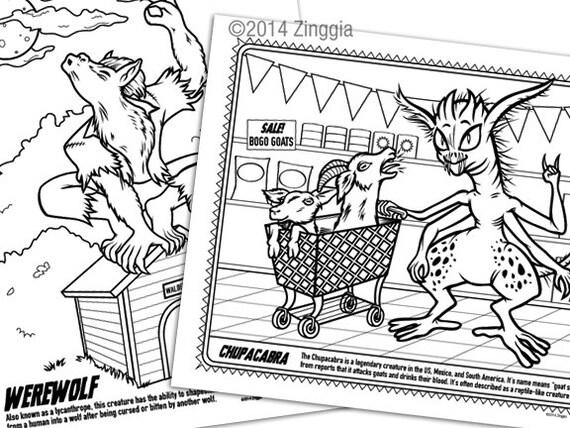 24 Monster Färbung Buchseiten mit Spiele & Masken   Etsy