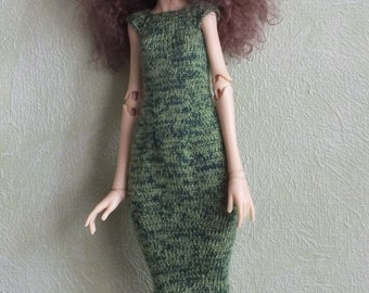 SALE! Handmade knitted wool  dress for Doll Chateau Kid MSD