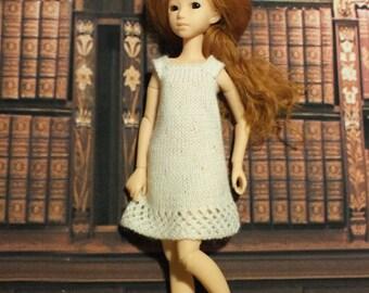 Handmade Blythe / Azone / Obitsu / Barbie doll white dress