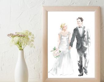 Custom Wedding Portrait (A4)
