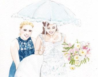 Custom Wedding Portrait (A5)