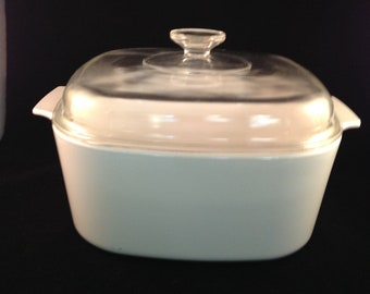 Corning Ware Winter White 5 Quart Casserole Dish With Lid