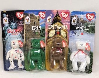 Ty Inc tm RARE Britannia tm tm tm Osito The Beanie Teenie Collection Maple tm