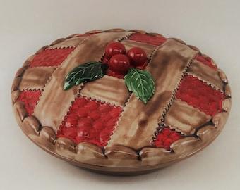 Vintage Ceramic Pie Plate With Decorative ... & Decorative pie plate | Etsy