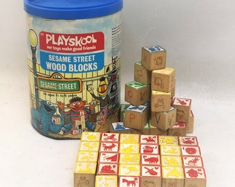 Playskool Wood Block Etsy