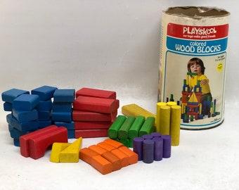 Wood Playskool Block Etsy