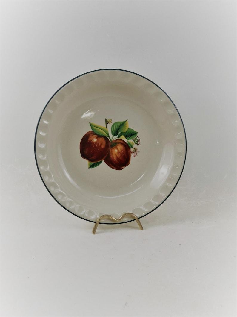 Vintage Ceramic Apple Pie Plate