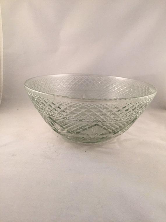 Vintage Diamond Cut Crystal Bowl