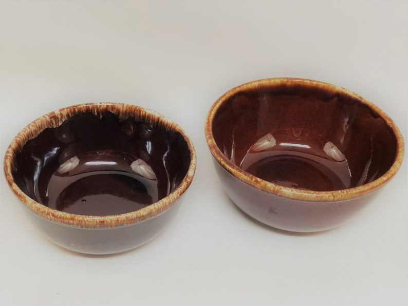 Set of 2 Kathy Kale Brown Drip MixingServing Bowls
