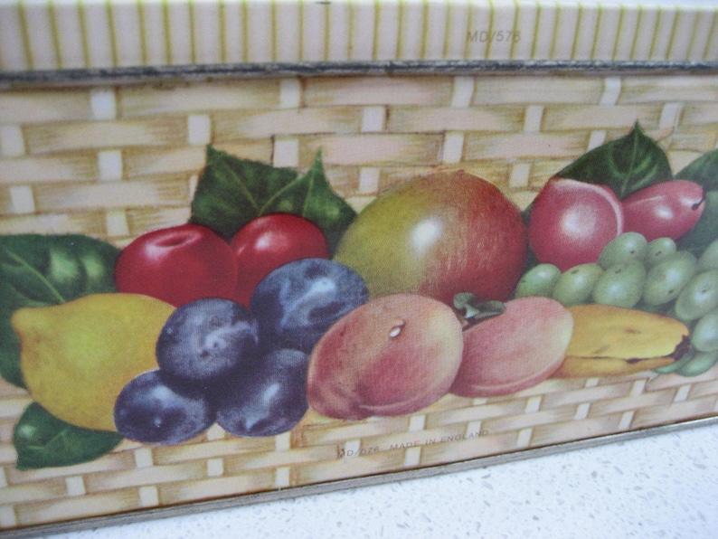 Retro Fruit Basket Tin Carmen Miranda-esque Excellent storage Versatile storage Vintage graphics A Pretty Sweet Fruit Pineapple
