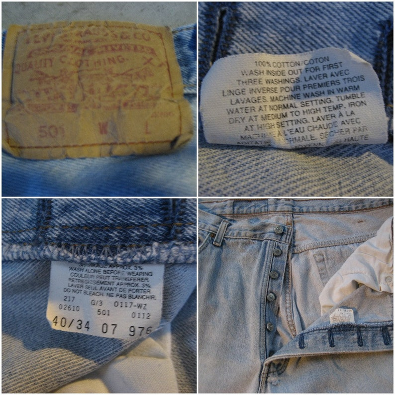 Vintage Red Tag Levi/'s 501 Boyfriend Jeans Authentic Distressed Demin Biker Musician renegade festival boho Americana high waist button fly