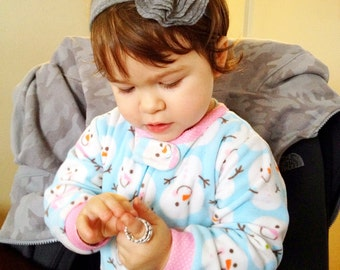 Jersey Knit Rosette Headband