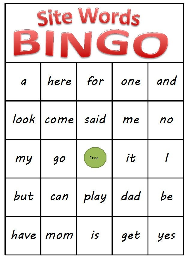 Amazing image regarding printable sight words for kindergarten
