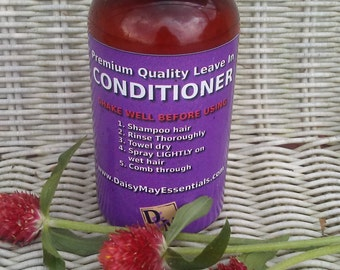 Leave In Hair Conditioner Natural Conditioner Moisturizer Prevent Damage Strengthens Hair Shea Butter Promothes Growth - FREE SHIPPING