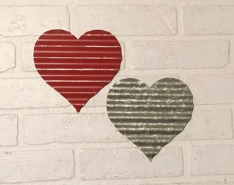 Metal Heart Decor Etsy