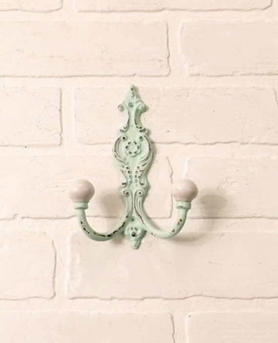 Towel Hook Single Hook Wall Hooks Decorative Hook Wall Hooks Vintage Coat Hook Shabby Chic Bath Hook The Shabby Store