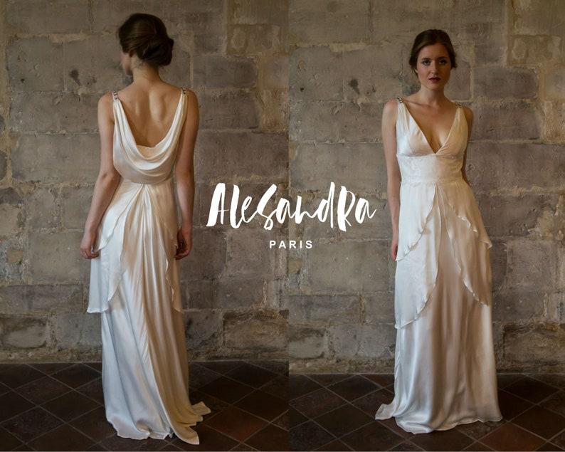Robe mariée drapée AlesandraParis