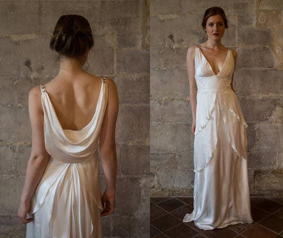 3978b1e2634de5 GABRIELLE     Silk bruiloft jurk   Great Gatsby bruiloft jurk