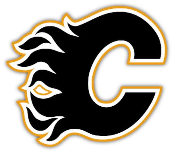 Calgary Flames C Nhl Hockey Sticker Decal 5 X 4 Etsy