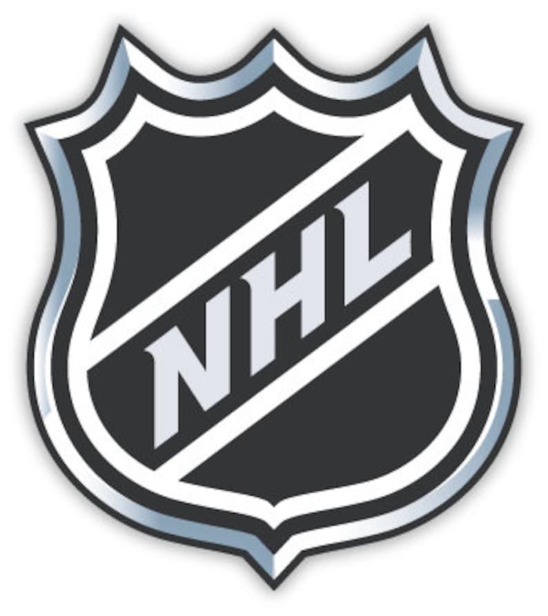 National Hockey League Nhl Sticker Decal 4 X 4 Etsy
