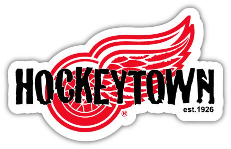 Detroit Red Wings Hockeytown NHL Hockey sticker decal 5  210547393f